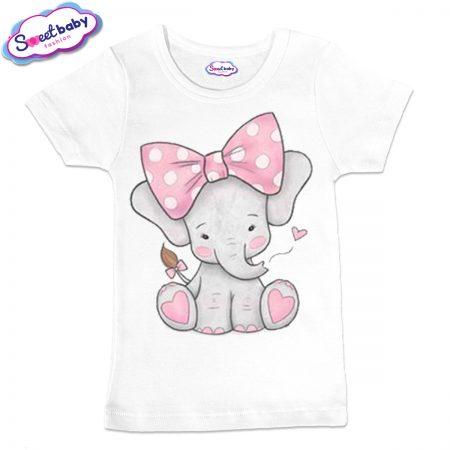 Детска тениска Слонче с панделка