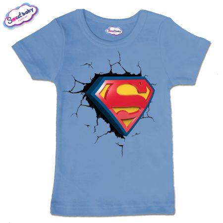 Детска тениска Супер сърце в синьо