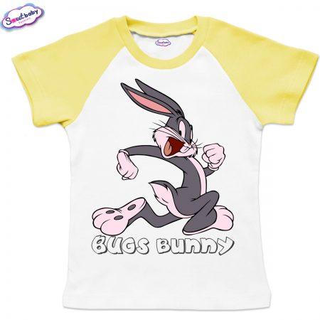 Детска тениска Bugs Bunny бяло жълто