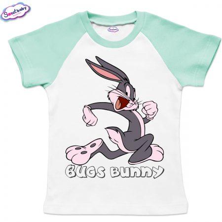 Детска тениска Bugs Bunny бяло мента