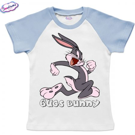 Детска тениска Bugs Bunny бяло синьо