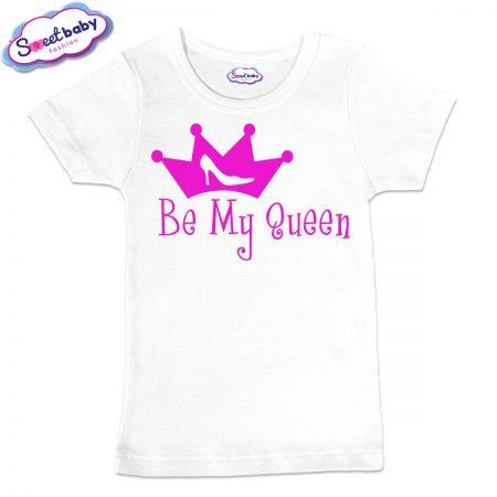 Детска тениска Queen в бяло
