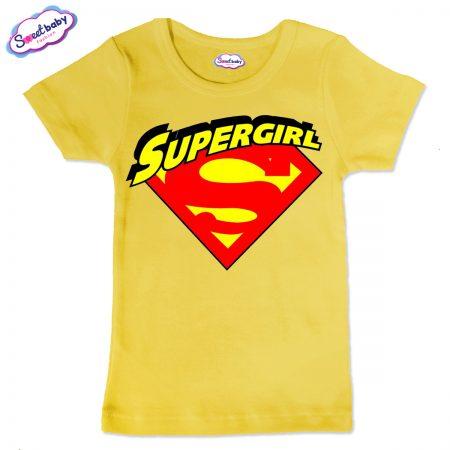 Детска тениска Supergirl в жълто