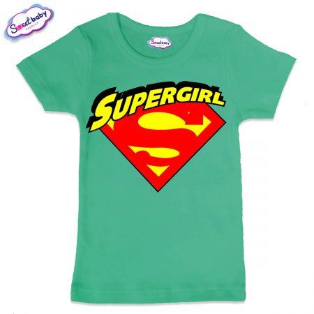 Детска тениска Supergirl в мента