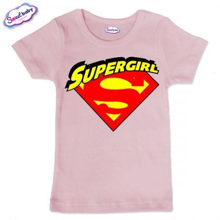 Детска тениска Supergirl в розово
