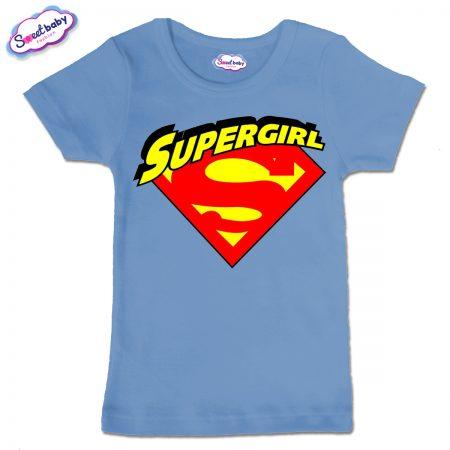 Детска тениска Supergirl в синьо