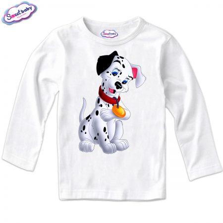 Детска блуза Далматинец в бяло