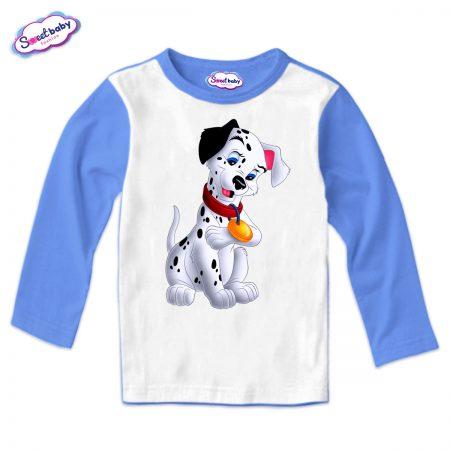 Детска блуза Далматинец синьо и бяло