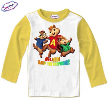 Детска блуза Катерички жълто и бяло