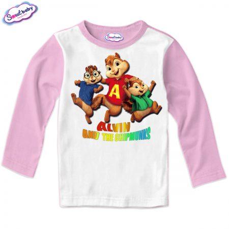 Детска блуза Катерички розово и бяло