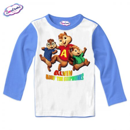 Детска блуза Катерички синьо и бяло