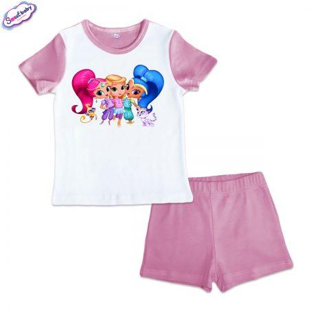 Детска пижама Искрящи и сияйни розово