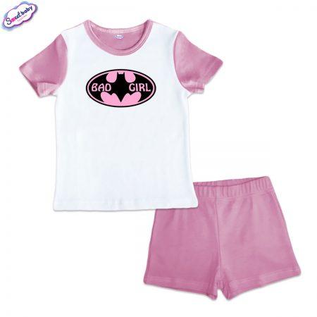 Детска пижама BadGirl розово бяло