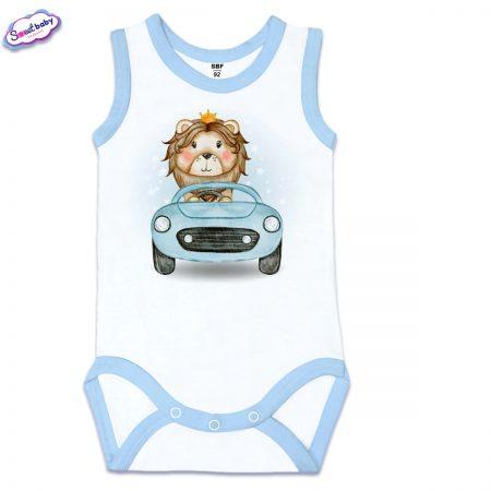 Бебешко боди Лъвчо шофьор син кант