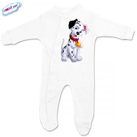Бебешко гащеризонче Далматинец в бяло