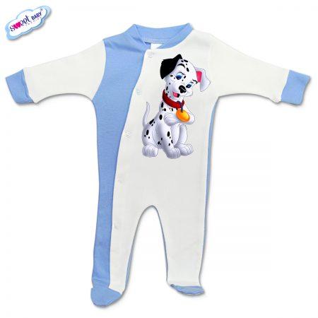 Бебешко гащеризонче Далматинец синьо и бяло