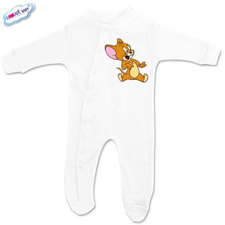 Бебешко гащеризонче Джери в бяло