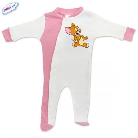 Бебешко гащеризонче Джери розово и бяло