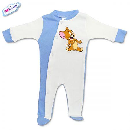 Бебешко гащеризонче Джери синьо и бяло