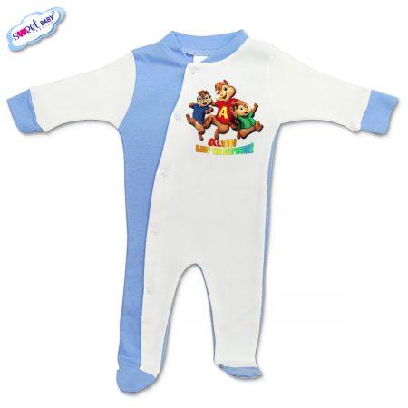 Бебешко гащеризонче Катерички синьо и бяло