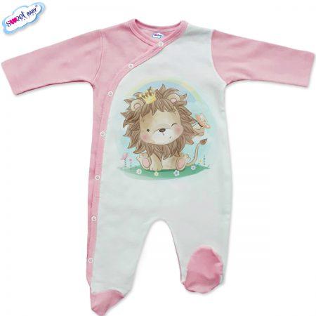 Бебешко гащеризонче Лъвица царица в розово
