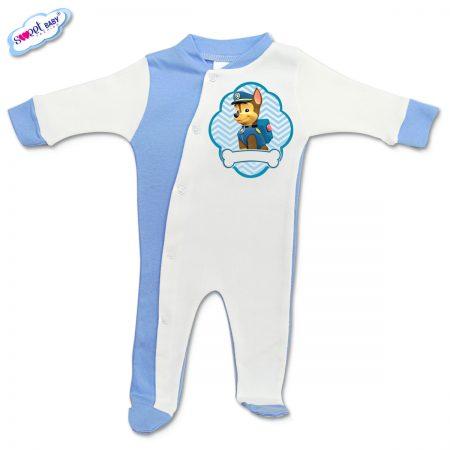 Бебешко гащеризонче Chase синьо и бяло