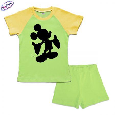 Детски сет Мики halloween зелено жълто