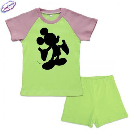 Детски сет Мики halloween зелено розово