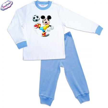 Детска пижама Мики футболист в синьо