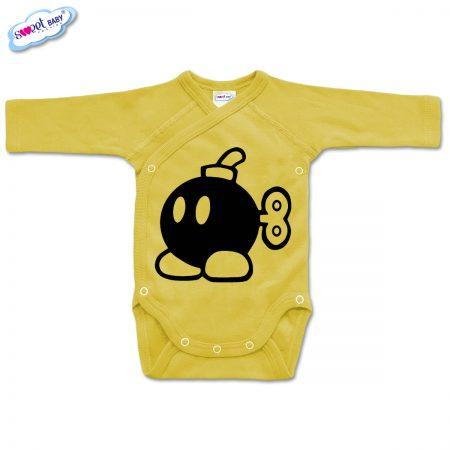 Бебешко боди прегърни ме Бомба жълто