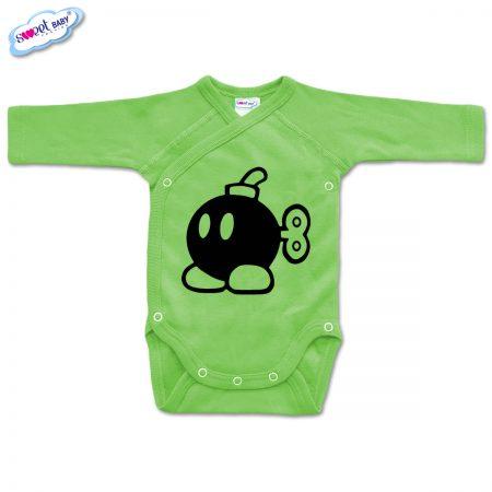 Бебешко боди прегърни ме Бомба зелено