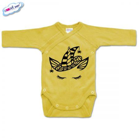 Бебешко боди прегърни ме Еднорогhaloween жълто