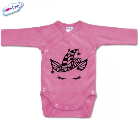 Бебешко боди прегърни ме Еднорогhaloween розово