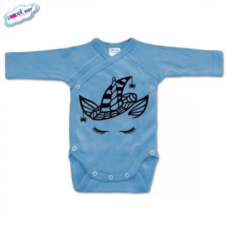 Бебешко боди прегърни ме Еднорогhaloween синьо