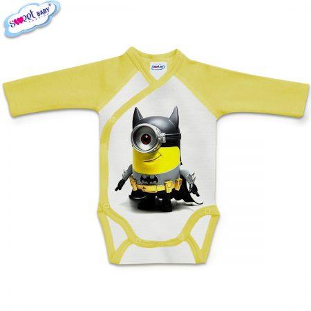 Бебешко боди прегърни ме МинБатМан жълто