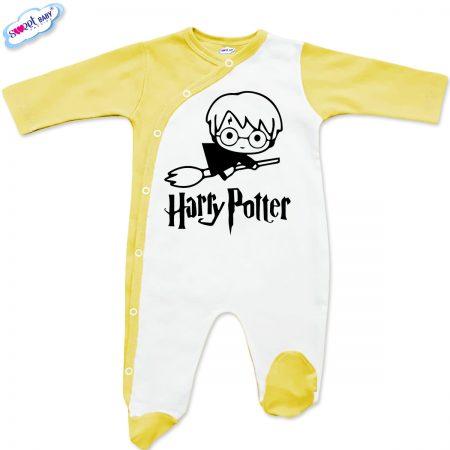 Бебешко гащеризонче Harry Potter бяло жълто