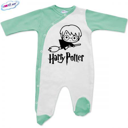 Бебешко гащеризонче Harry Potter бяло мента