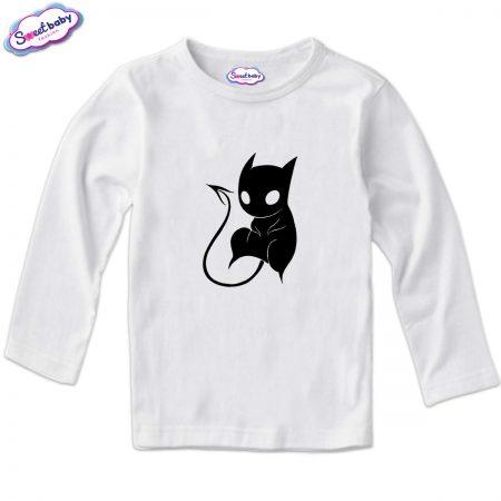 Детска блуза CatDemon в бяло
