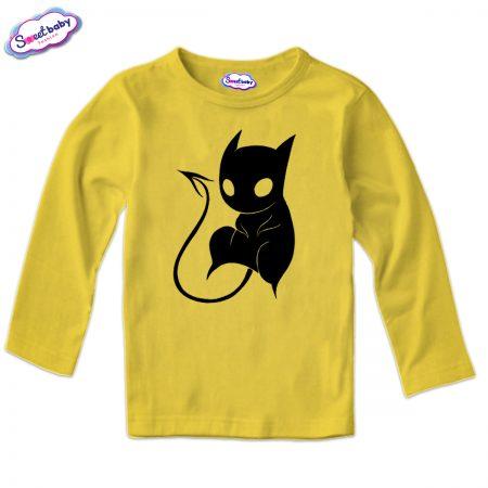 Детска блуза CatDemon в жълто