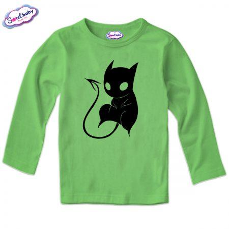 Детска блуза CatDemon в зелено