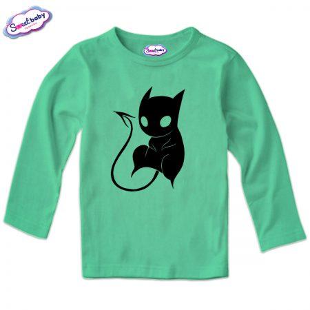 Детска блуза CatDemon в мента