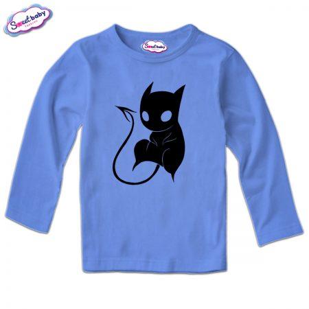 Детска блуза CatDemon в синьо