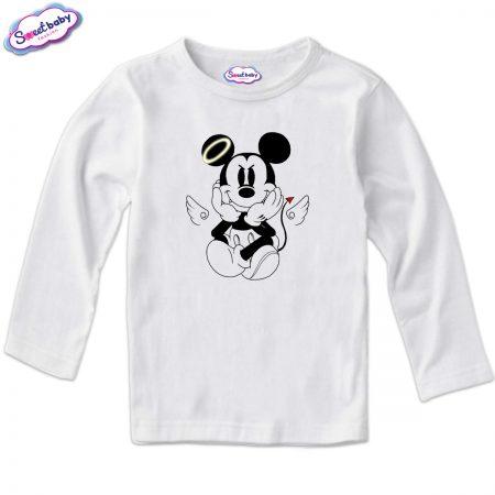 Детска блуза MikiDemon в бяло
