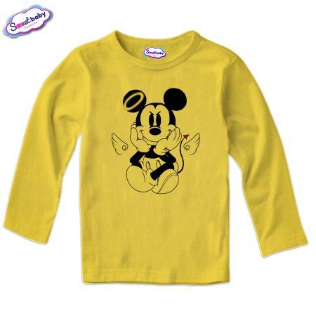 Детска блуза MikiDemon в жълто