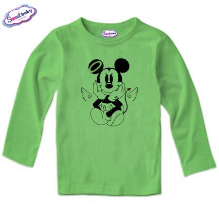 Детска блуза MikiDemon в зелено