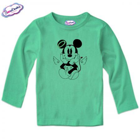 Детска блуза MikiDemon в мента
