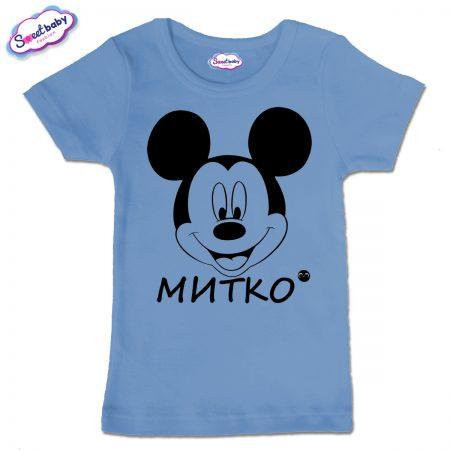 Детска тениска Миткоо в синьо
