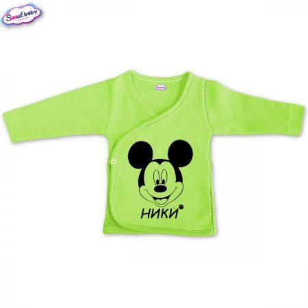 Бебешка камизолка Ники М в зелено