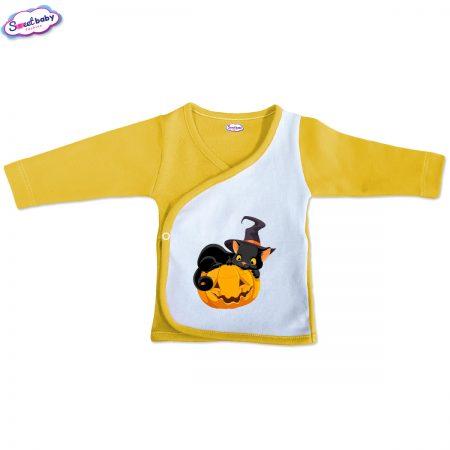 Бебешка камизолка Халокоте жълто и бяло