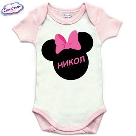 Бебешко боди US Никол М розово